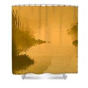 Golden Riverside Shower Curtain