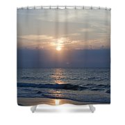 Golden Rose Reflection Squared Shower Curtain