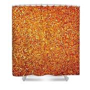 Golden Sequins Web Shower Curtain