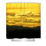 Golden Skies Shower Curtain