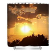Golden Sky Over Genesee Shower Curtain