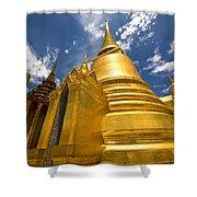 Golden Stupa In Grand Palace Bangkok Shower Curtain
