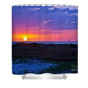 Golden Sun Shower Curtain