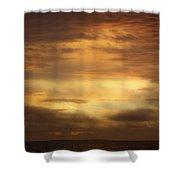 Golden Sunrise Squared Shower Curtain