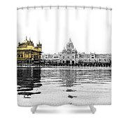 Golden Temple India Shower Curtain
