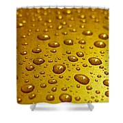 Golden Water Drops. Business Card. Invitation Etc. Shower Curtain
