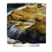 Golden Waterfall Glacier National Park Shower Curtain
