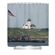 Golf At The Hudson Shower Curtain