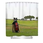Golf Bag Shower Curtain