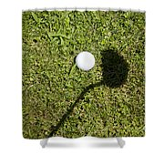 Golf Ball And Shadow Shower Curtain