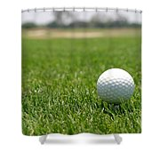 Golf Ball Shower Curtain