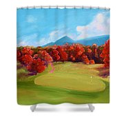 Golf Course In The Fall 2 Shower Curtain