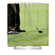 Golf Feet Shower Curtain