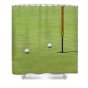Golf Pin Shower Curtain