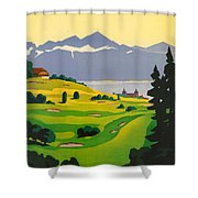 Golfing In Lausanne Shower Curtain