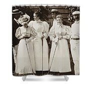 Golfing Party, C1895 Shower Curtain