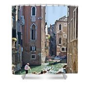 Gondola Painting Shower Curtain