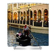Gondola Ride Inside Venetian Hotel Shower Curtain