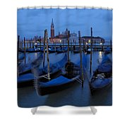 Gondolas At Dusk In Venice Shower Curtain