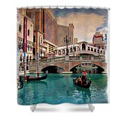 Gondolas On The Canal - Impressions Shower Curtain