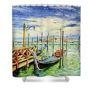 Gondolla Venice Shower Curtain