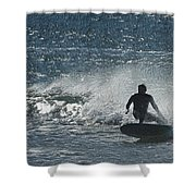 Gone Surfing Shower Curtain