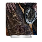 Good Luck Shower Curtain by Susan Candelario