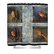 Good Moning Sunshine Collage Shower Curtain