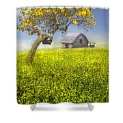 Good Morning Spring Shower Curtain by Debra and Dave Vanderlaan