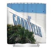Good Year Blimp Hanger Shower Curtain