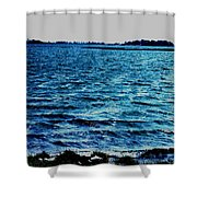 Goodmorning Waves Shower Curtain