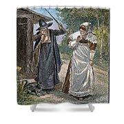 Goodwife Walford, 1692 Shower Curtain