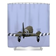 Goony Departure Shower Curtain by Tim Mulina