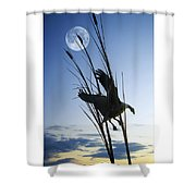 Goose At Dusk Shower Curtain