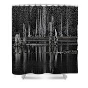 Goose Lake Dusk Shower Curtain