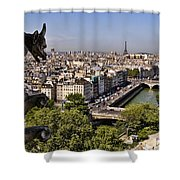 Gorgyle View Of Paris Shower Curtain