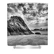 Goscar Rock Tenby 2 Mono Shower Curtain
