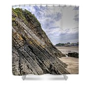 Goscar Rock Tenby 3 Shower Curtain
