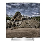 Goscar Rock Tenby 4 Shower Curtain