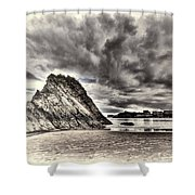 Goscar Rock Tenby Cream Shower Curtain