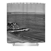 Goscar Rock Tenby Mono Shower Curtain
