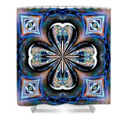 Gothic Blues Shower Curtain