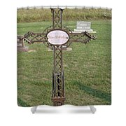 Gothic Grave Marker Shower Curtain