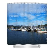 Government Wharf In Sooke Harbour Shower Curtain