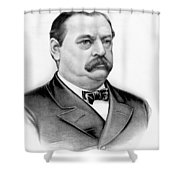 Governor Grover Cleveland - Twenty Second President Of The Usa Shower Curtain by International  Images