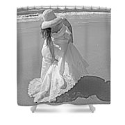 Gown Gathering Shower Curtain
