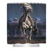 Grab The Fast Horse Shower Curtain