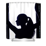 Graceful Silhouette Shower Curtain
