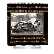 Graduation Card Shower Curtain