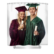 Graduation Couple Iv Shower Curtain